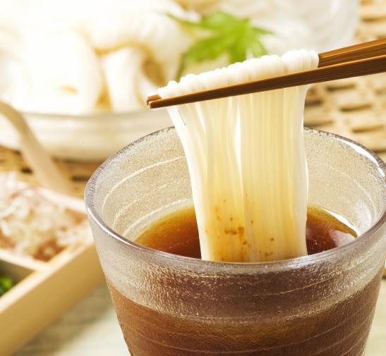 島原素麺と梅そうめんつゆ