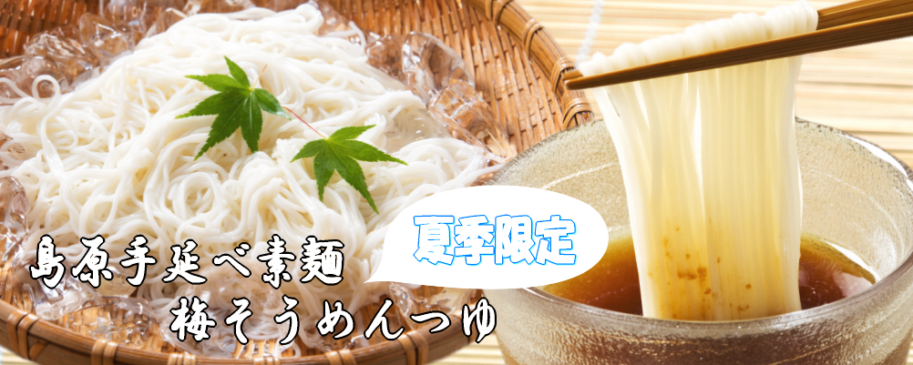 【夏季限定】島原手延べ素麺・梅そうめんつゆ